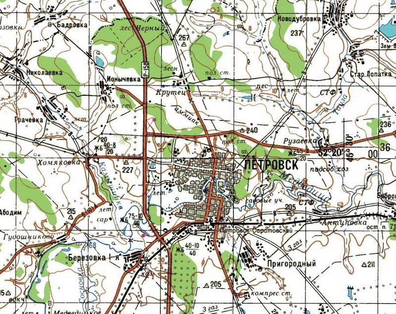 карта петровска саратовской